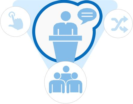 答疑,考试,讨论,调研,协作学习,视频课堂 支持多种在线学习模式:移动