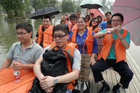 弘成教育上海闵行学习中心</strong>学员游览朱家角生态庄园