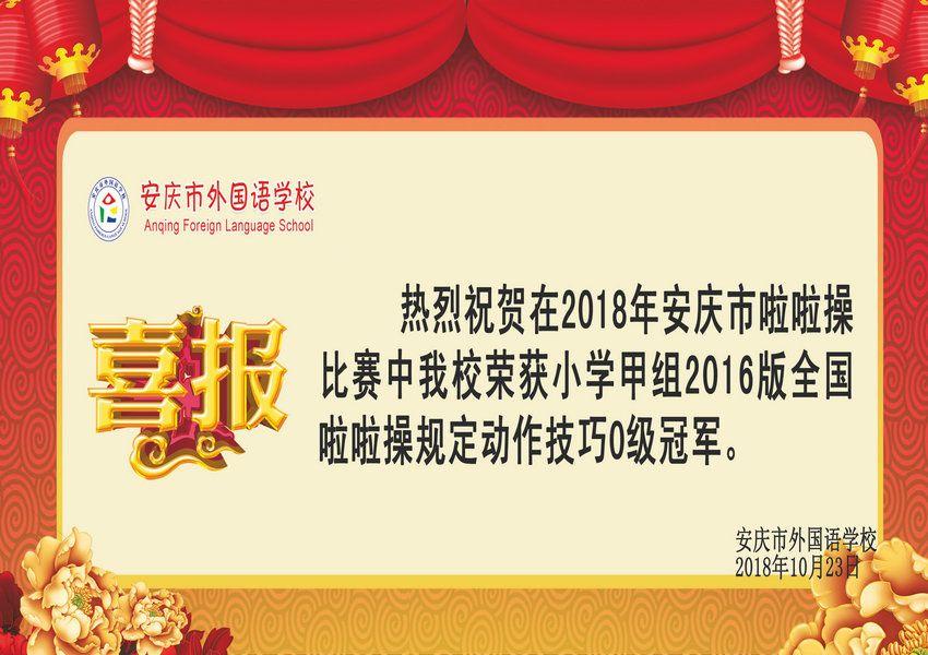 安庆市啦啦操比赛获奖喜报