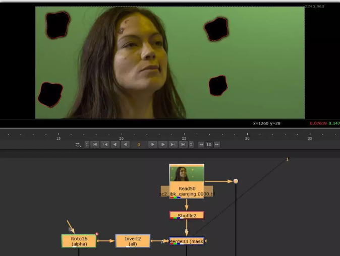 【后期合成干货】如何快速擦除抠像镜头中的mark点?
